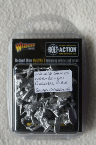 Warlord Games 28mm WGB-BI-601 Gurkhas Rifle Squad Charging